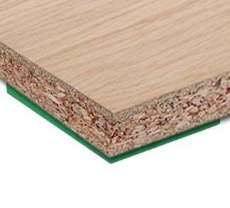 Ťažko zápalná dyhovaná drevotrieska FIREPLAC®SE
